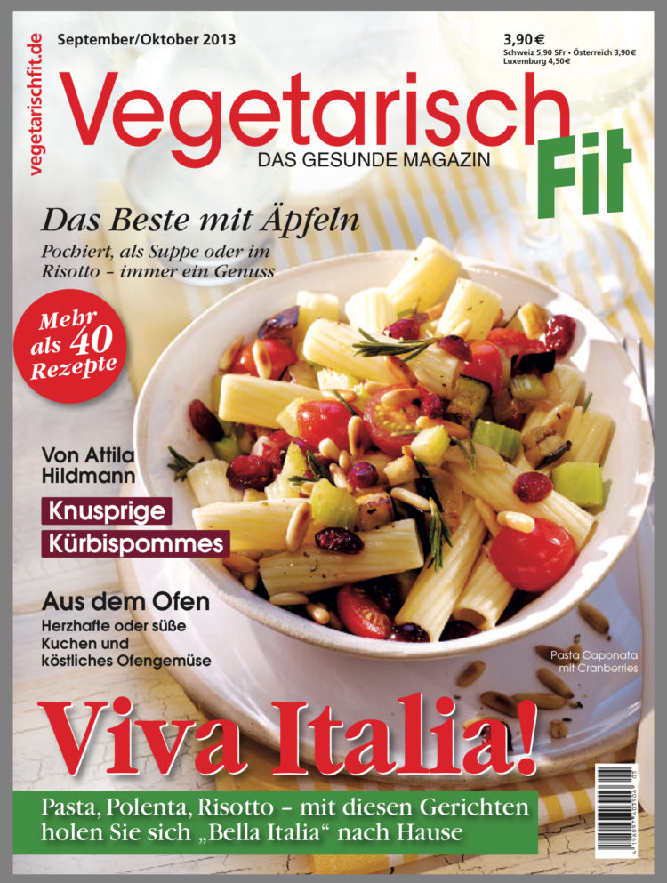 Vegetarisch Fit Ausgabe September Oktober 2013 Farbbechers Cuisine